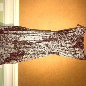 Dresses & Skirts - Black and white design print, women's tube dress
